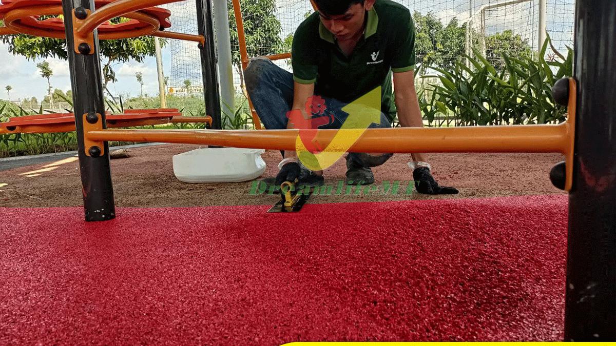 Cải tạo sàn cao su EPDM tại thành phố Cần Thơ